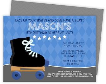 Roller Skating Invitation, Roller Skating Party, Roller Skating Party Invitation, Roller Skate Invite, Skate Party, Roller Skate Party | 285