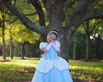 Cinderella Dress / Disney Princess Dress Inspired Costume Ball Gown - Classic - Kids, Girls, Toddler, Child, baby