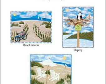 Set of Six Notecards - Beach Collection
