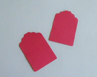 Dark Pink Tags for Labeling, Scrapbooking, Gift, Thank You, Wedding Favor or Price Tags, Punched, Unpunched