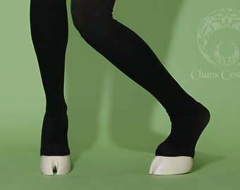 Creature Feet Unisex Cloven Hoof Shoes with Thigh High Leggings