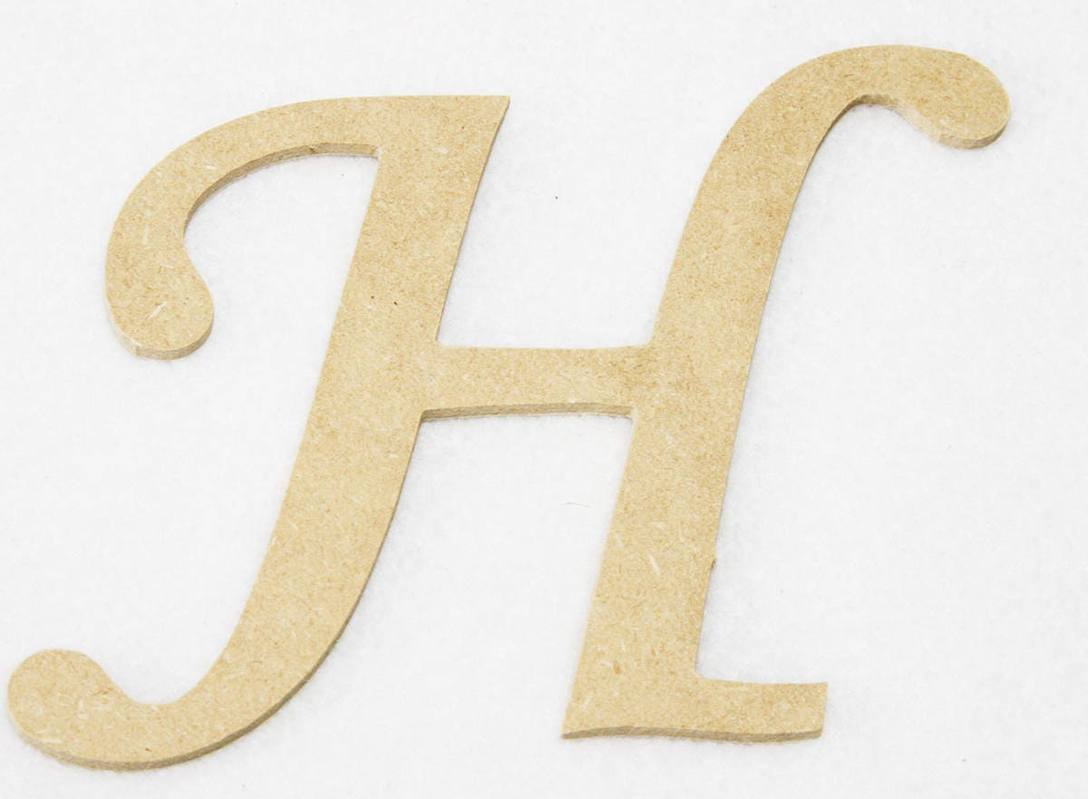 Wooden Letters Monotype Font Unfinished 4 Crafts Wall Decor Wall ...