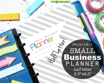 Small Business Planner, Printable, Half Letter Sheet - INSTANT Download - Etsy Shop, Sales, Expenses
