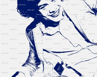 One Direction Harry Styles Matted Print