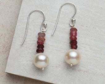 Tourmaline & Pearl Earrings