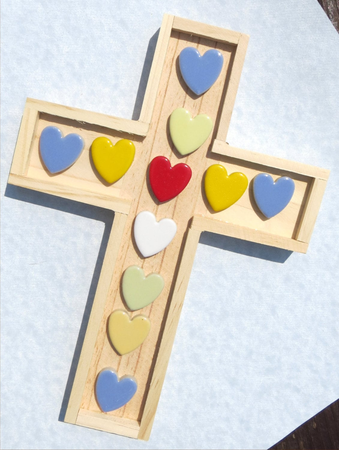 Wooden Cross for Mosaics and other Crafts - Trivet Wall Hanging Base ...