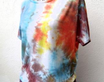 """T-shirt cotton women hand """"Watercolor 2"""" (3)"""