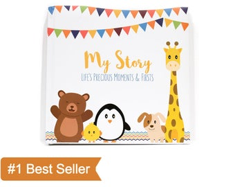 First Year Baby Memory Book for Boys and Girls | Life's Precious Moments & Firsts | First Five Years Baby Journal | Gender Neutral