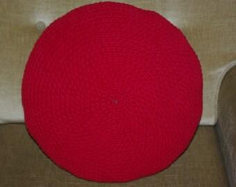 Round crochet pillow/pillow/cushion/handmade pillow/cotton pillow/cotton cushion/decorative cushion/crochet cushion
