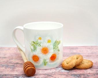 Camomile Herb Tea Mug  |  Bone China Mug