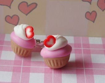 Strawberry Cupcakes Stud Earrings