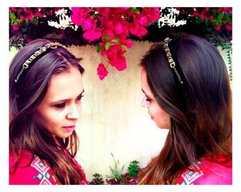 "GILDED-MANE HEADBAND : Victorian Revival ""Charm Bracelet"" Headpiece"