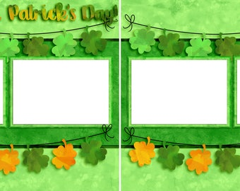 Happy St. Patrick's Day - Digital Scrapbooking  Quick Pages - INSTANT DOWNLOAD