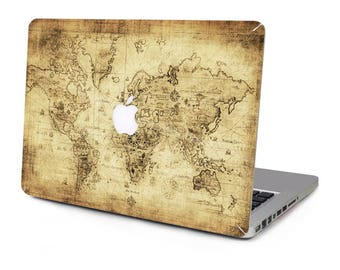 Map macbook 11 etsy vintage world old map explorer vinyl sticker skin decal cover top case for apple macbook pro gumiabroncs Gallery