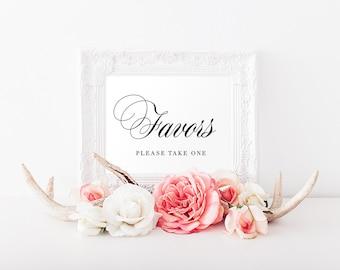 Printable Favors Sign, Wedding Favors Sign, Wedding Sign, Favors Table Sign, Wedding Printable - A15