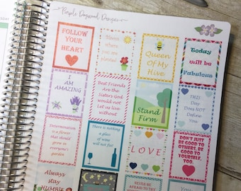 Quote Boxes Planner Stickers ~ 3241F