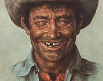 Bill Hampton - The Sidekick  - Cowboy - Greeting Card - Mixed Media Art Supply
