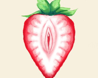 Juicy Strawberry Fine Art Print