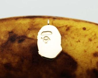 micro bape pendant 14k yellow gold +++pendant only+++