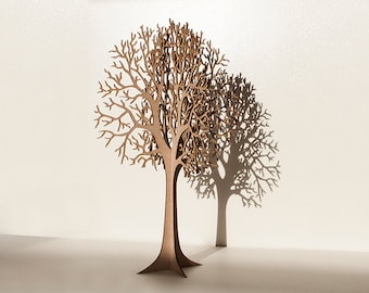 Lasercut Wooden Tabletop Tree #1 - LARGE