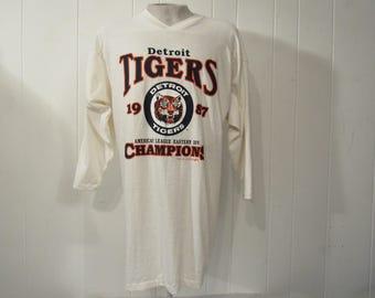 Vintage T-shirt, baseball t shirt, 1980s t shirt, Detroit Tigers jersey, Baseball shirt, 1988 Detroit Tigers, vintage clothing, NWT, Large