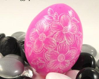 Pysanky, Pisanki, Ukrainian Egg, Polish Easter Egg, Skrobanki, Easter Egg, Ukrainian Easter Egg, Scratched Egg, Pysanky Egg, Pink Floral