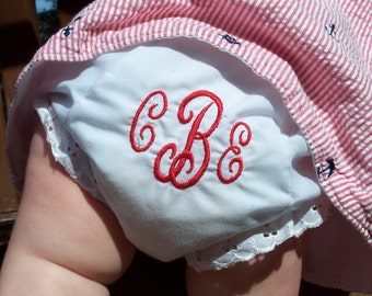 Bloomers, Monogrammed Diaper Cover, Newborn Photo Prop, Personalized Bloomers, Monogram Diaper Covers, Cake Smash, Newborn Diaper Cover