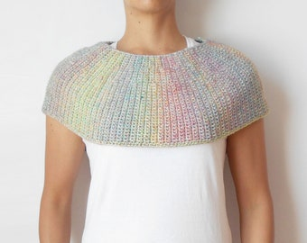 Diane Capelet, crochet pattern, crochet cape, crochet cowl, crochet poncho, diy cape