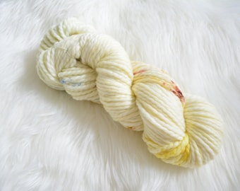 Creme Brulee, Bulky Weight Yarn, Hand Dyed Yarn( 50 percent Superwash Merino Wool, 50 percent Nylon)