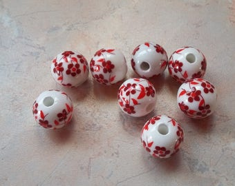 With 16mm red ceramic beads