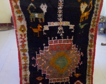 "Moroccan vintage berber rug""berber rug""tapis marocain"" 222x107 cm"