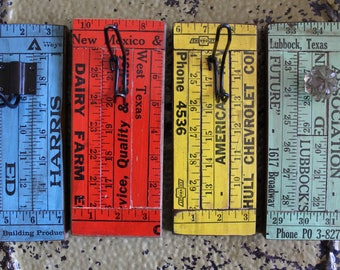 Vintage  yardstick hangers - choose from four styles