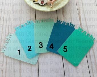 Washi Tape Card Holder - Ombré Blue