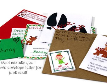 Personalized package from santa letter from santa santas personalized letter from santa claus santa claus letter elf letter on nice list santa seal christmas letter indiscrete envelope spiritdancerdesigns Image collections