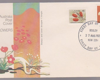 1975 Australia WILDFLOWERS Official FDC First Day Cover - Helichrysum Thomsonii and Callistemon Teretifolious