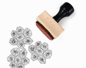 Rubber Stamp Triangle Hexagon Pattern   Hand Drawn Geometric Pattern Stamp