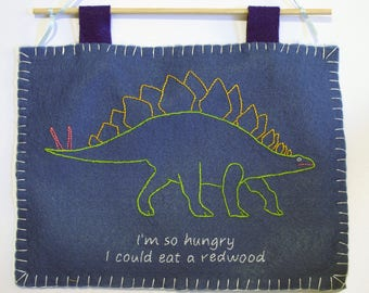 Hungry Herbivore embroidery