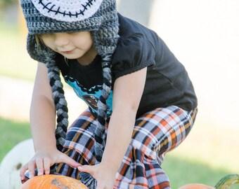 Crochet Jack Skellington Hat - Skeleton Hat - Halloween Hat - Nightmare Before Christmas