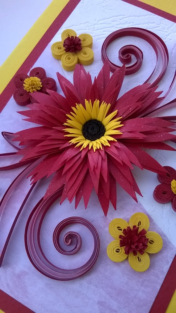 Quilling greeting card stylish birthday card quilled like this item m4hsunfo