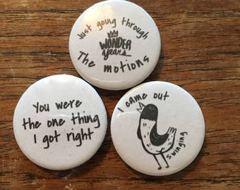 The Wonder years Badges