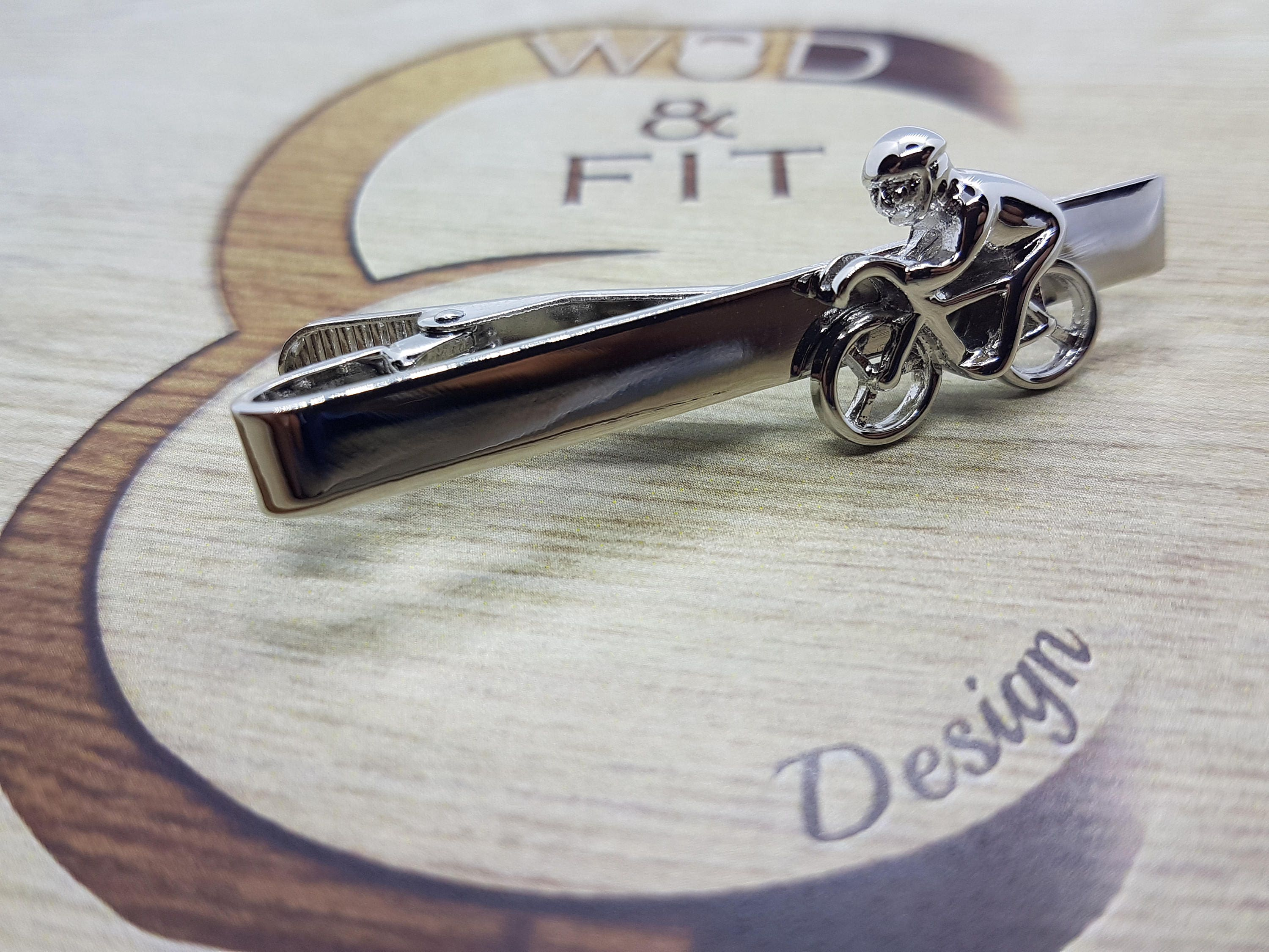Biker Tie Clip,Coach Gift,Motivational,Bike Jewelry,Gym Gift,Dad ...