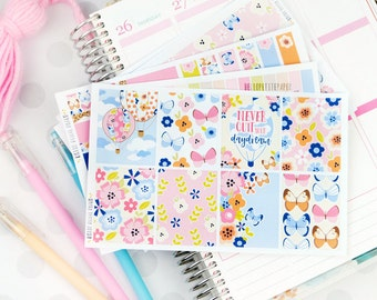 Daydream KIT - 5 sheets, planner stickers // for the ECLP Vertical, Happy Planner