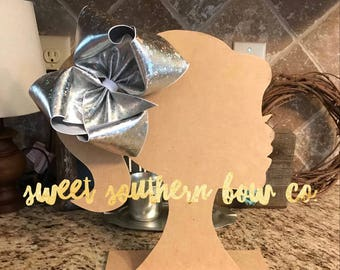 Sassy Starburst Foil USDR Boutique Bow Silver Gold Starburst Glitter Metallic Foil Hairbow Sweet Southern Bow Co
