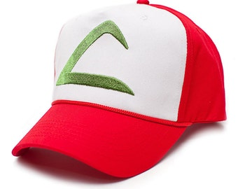 Pokemon Ash Ketchum Embroidered Curved Bill Hat Cap HIGH QUALITY Red