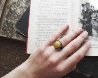 Mothers Day Gift, mustard ring, yellow ring, adjustable ring, nephrite ring, boho ring, bohemian ring
