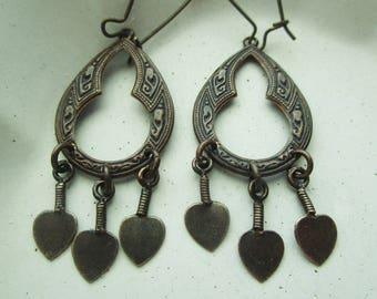 Bronze and Brass Church Window Earrings