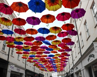Bath Umbrellas Print