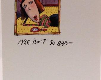 "Yellow Brick Road ""Age Isn't So Bad"" Birthday Greeting Card and Envelope"