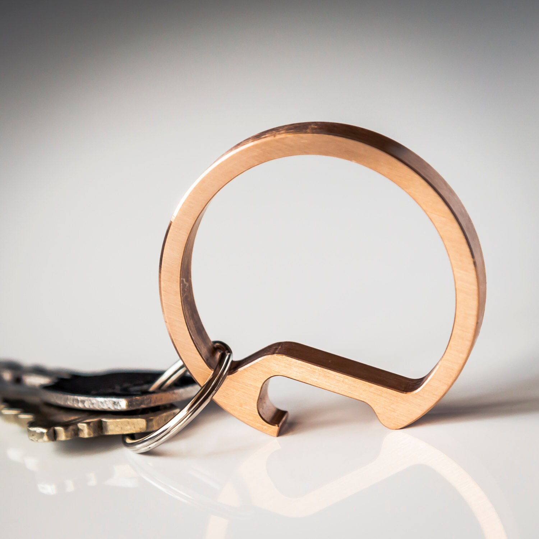 bottle opener keychain tool cnc machined bronze modern. Black Bedroom Furniture Sets. Home Design Ideas