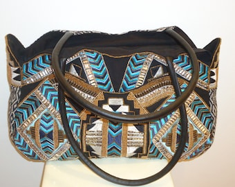 Beautiful Must See Large Sequin Shoulder Bag/FREE SHIPPING